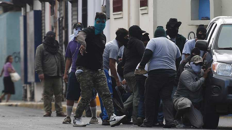 NICARAGUA-UNREST-BASILICA-PARAMILITARIES-ATTACK
