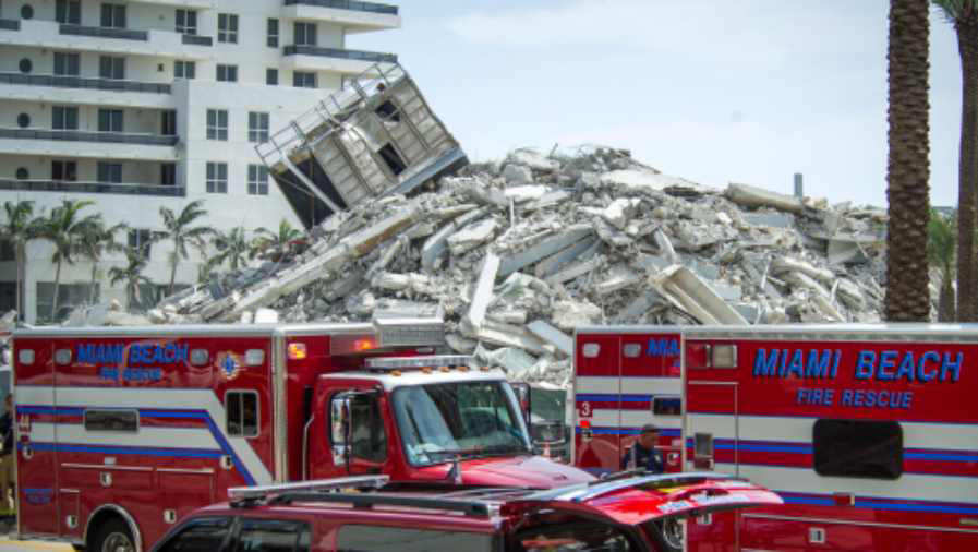 Derrumbe de edificio en Miami deja un herido