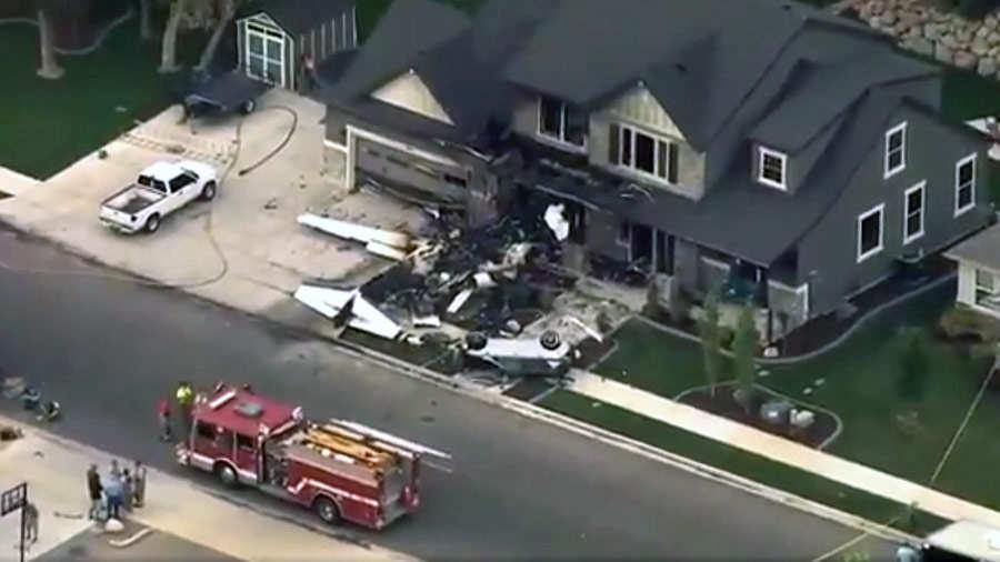 Un hombre estrella una avioneta contra su casa en Utah