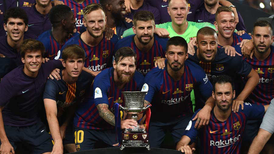 Spanish Super Cup between FC Barcelona and FC Sevilla