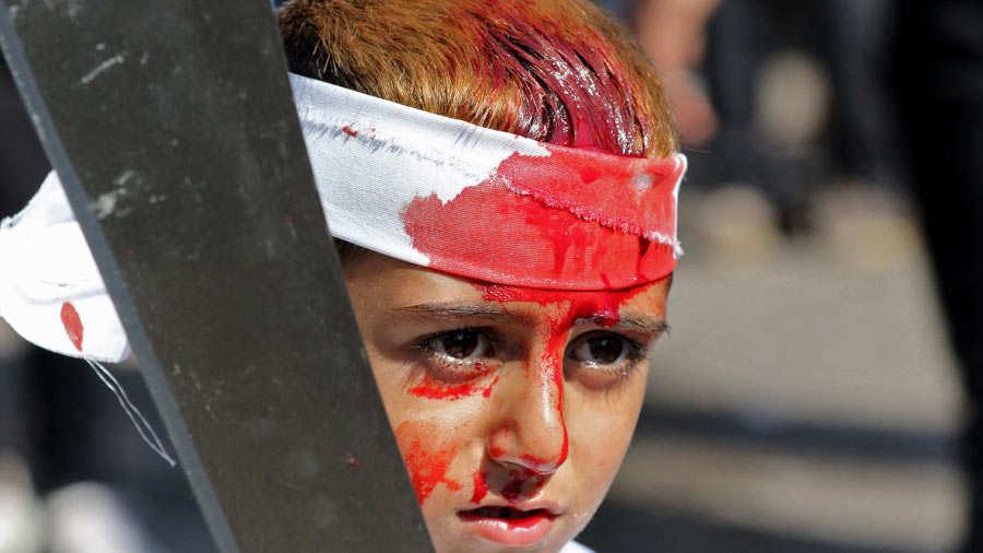 Resultado de imagen de Ashura niños sangrando