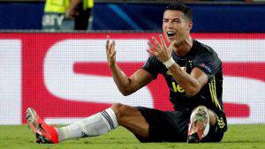 La frustración y llanto de Cristiano Ronaldo al ser expulsado en Champions League