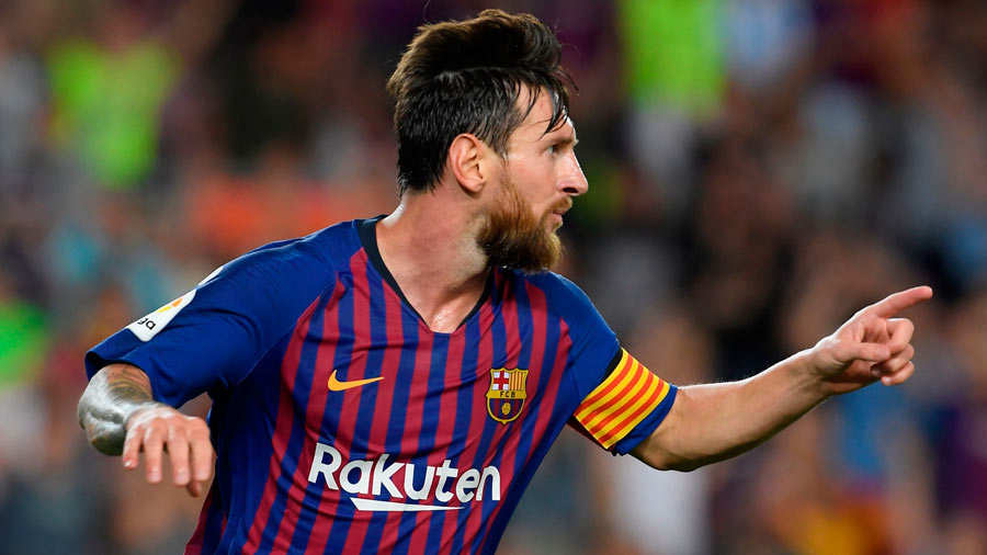 Messi y un radical cambio de look