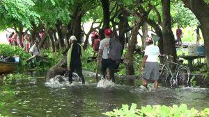Un pescador extraviado y daños en San Alejo provocan las lluvias que azotan el país
