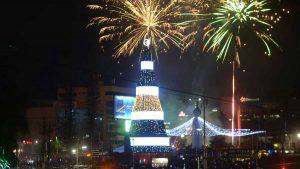 San Martín iluminará la Plaza Salvador del Mundo con el árbol más grande de El Salvador