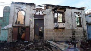 Las casas centenarias que destruyó un incendio en el centro de San Salvador