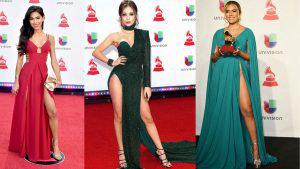 Mostrar la pierna fue la consigna en la alfombra roja de los Grammy Latinos 2018