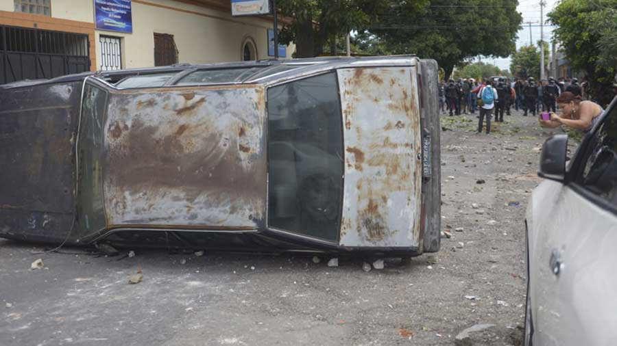 Vandalismo Santa Tecla