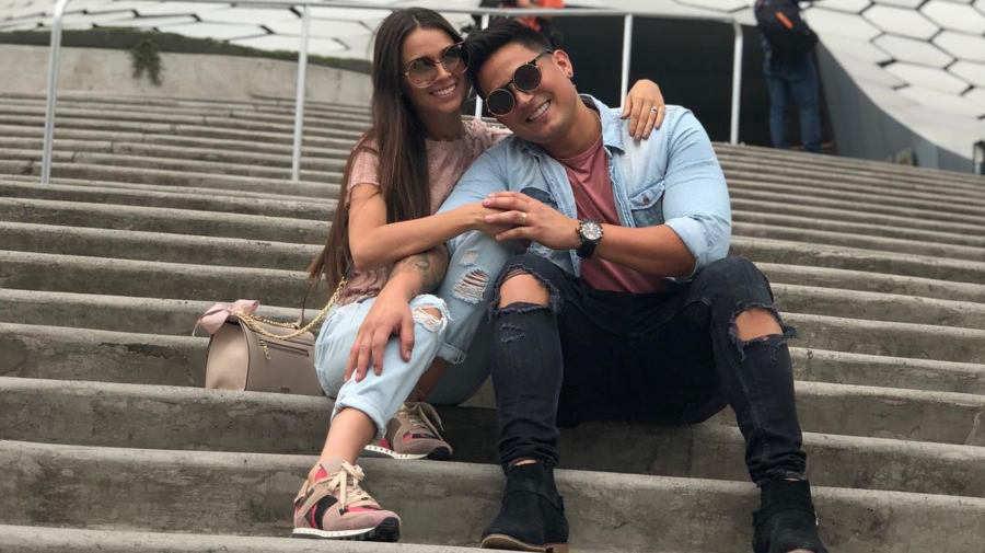 Rosmeri Marval y Arán de las Casas anunciaron que tendrán un hijo