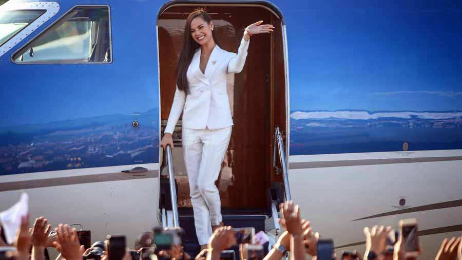 Miss Universo 2018, la filipina Catriona Gray, llega a Manila