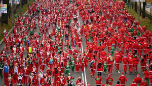 Esta fue la maratón de Santa Claus en el mundo