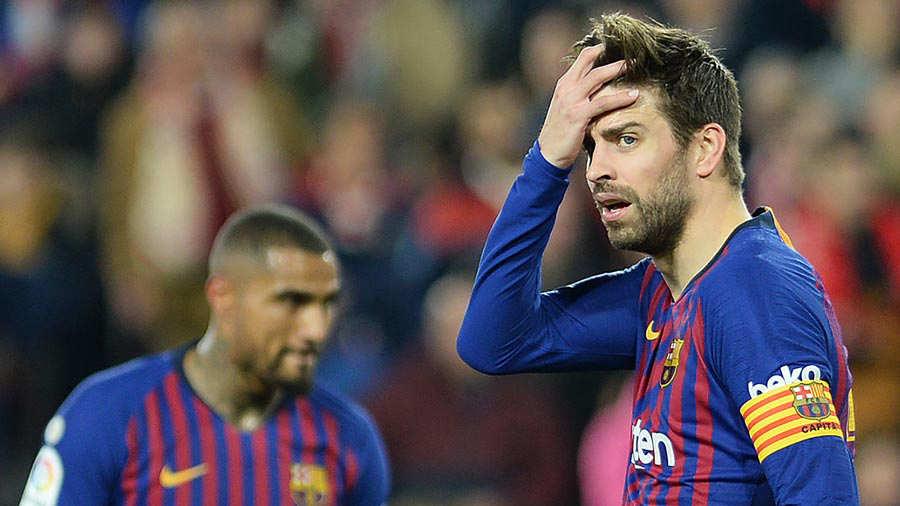 Barcelona naufragó en la ida de cuartos de final en Copa del Rey ...