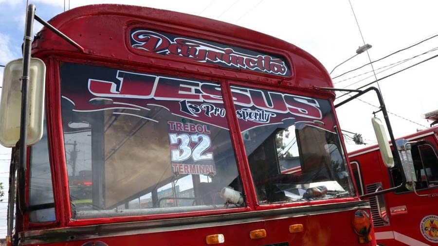 La explosión se produjo en un autobús de la ruta 32 en la ciudad de Guatemala.