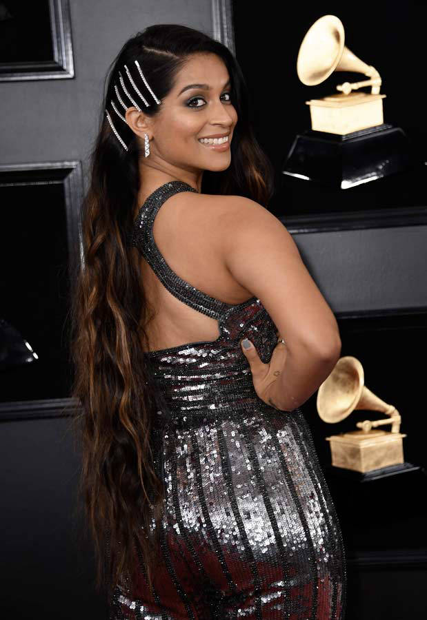 Actress Lilly Singh arrives for the 61st Annual Grammy Awards on Febr