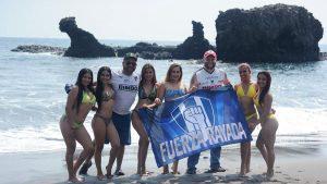 Aficionados del Monterrey se la pasaron de lo lindo en las playas de La Libertad