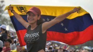 Concierto benéfico por Venezuela Aid Live contra la dictadura de Nicolás Maduro