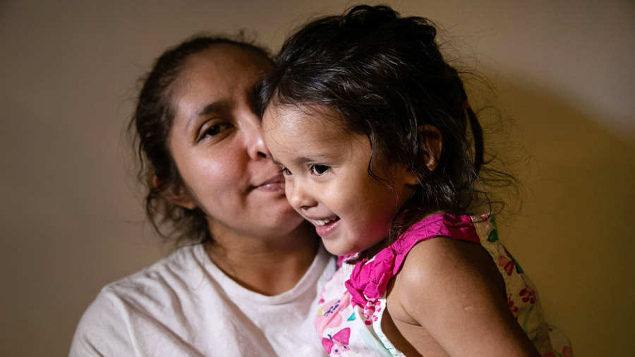 After Detention And Release, Undocumented Mother And Child Wait For Day In Immigration Court