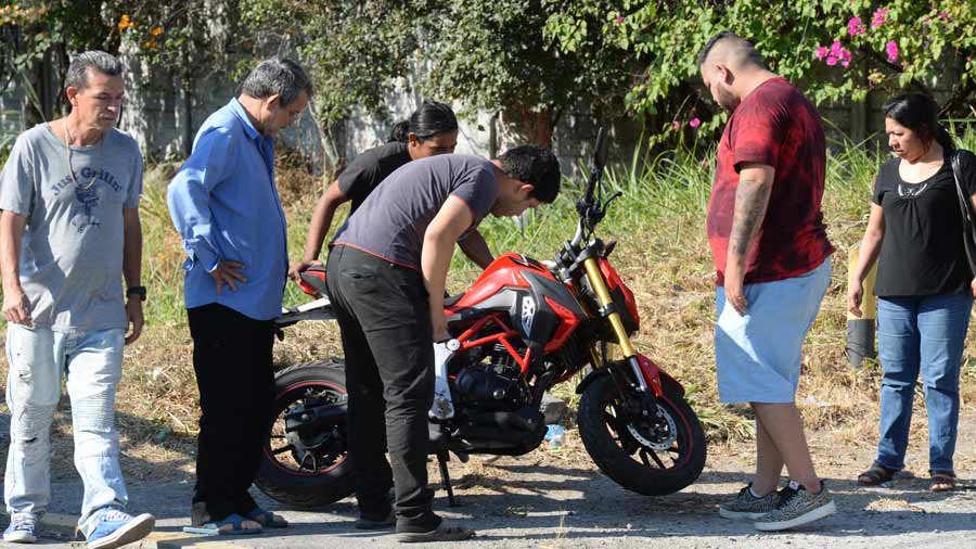 Motociclista fallecido