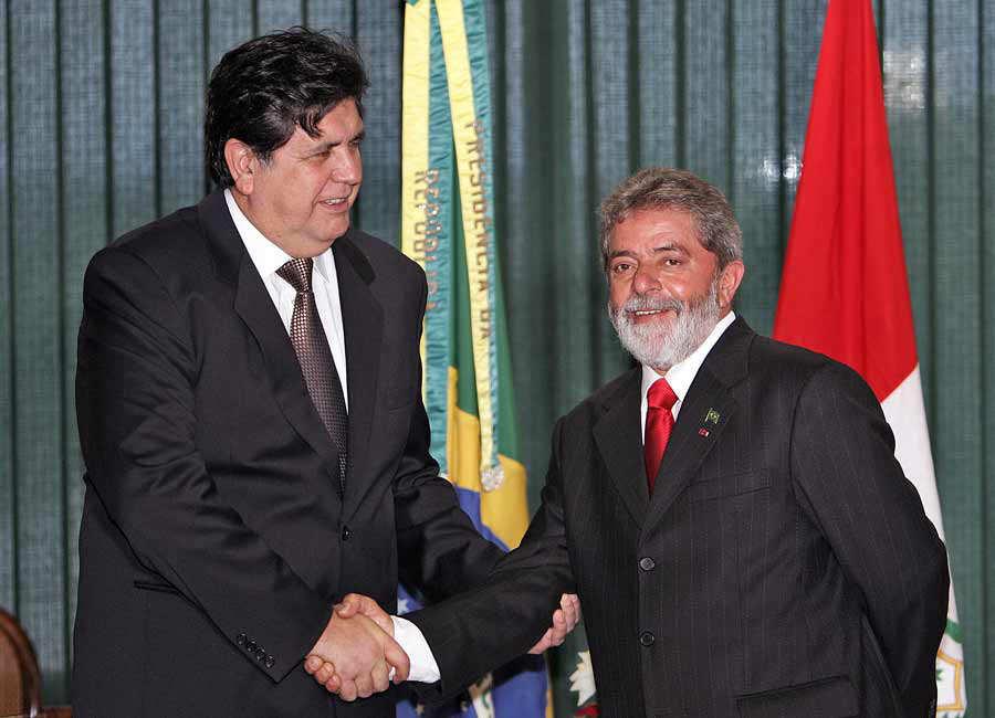 BRAZIL-PERU-GARCIA-WELCOME CEREMONY