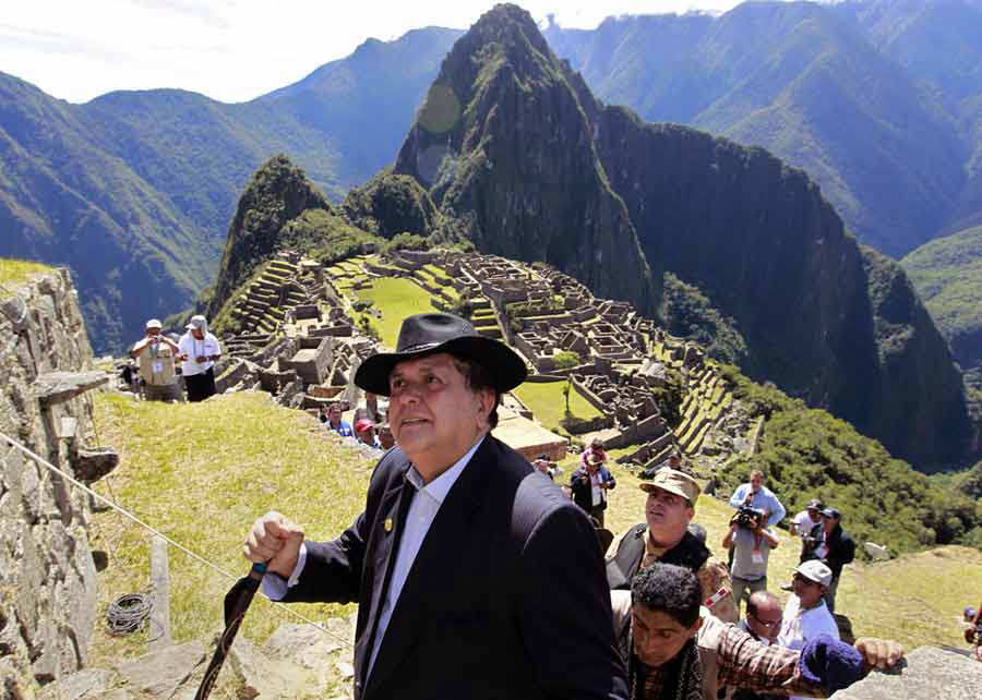(FILES) In this handout file picture released by the Peruvian preside