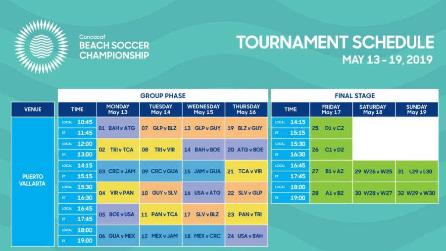 Campeonato de CONCACAF 2019 en Mexico. Calendario-F%C3%BAtbol-Playa