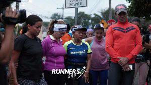 El emotivo acto de solidaridad de los runners con la corredora atacada con arma blanca en Santa Elena