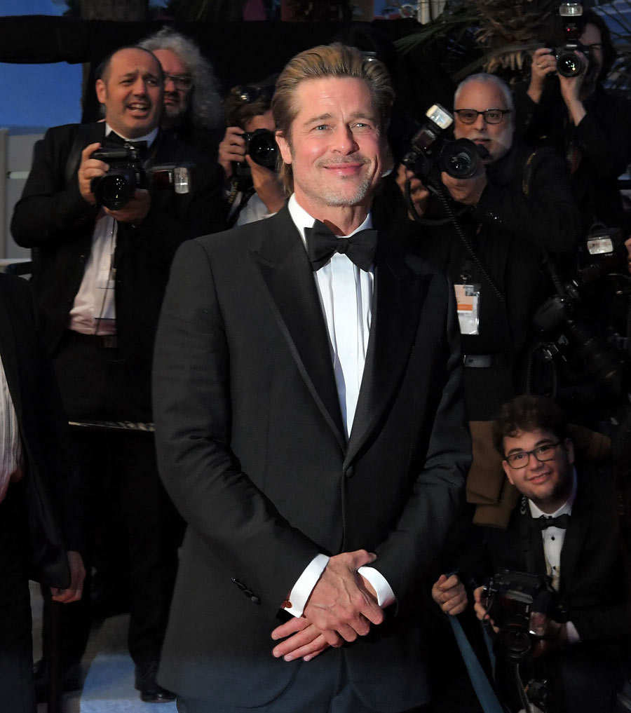 US actor Brad Pitt leaves follwing the screening of the film