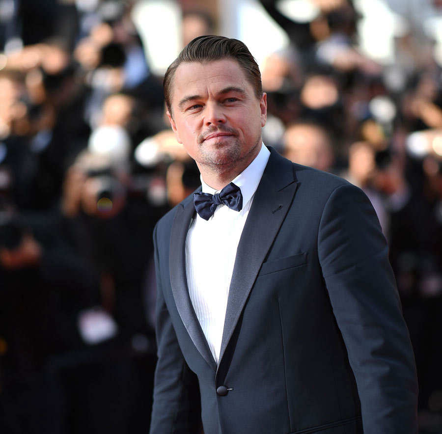 US actor Leonardo DiCaprio arrives for the screening of the film