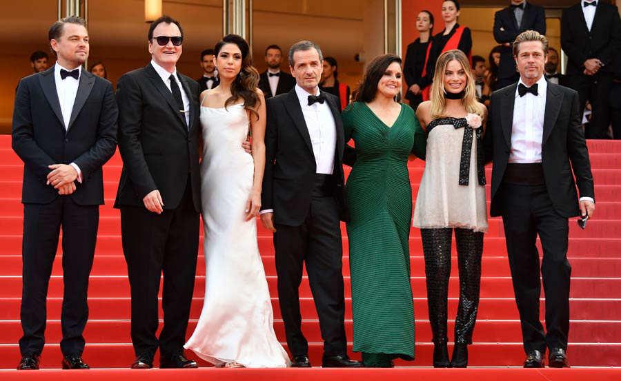 (FromL) US actor Leonardo DiCaprio
