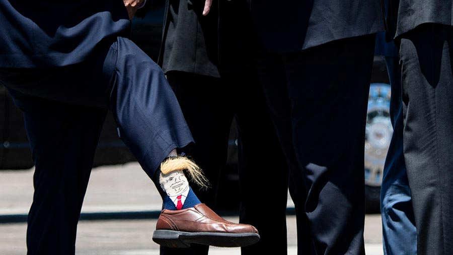 US-POLITICS-TRUMP-SOCKS