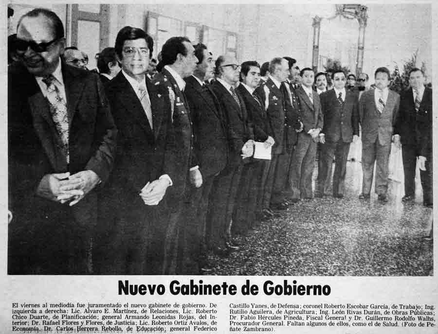 1977. Carlos Humberto Romero