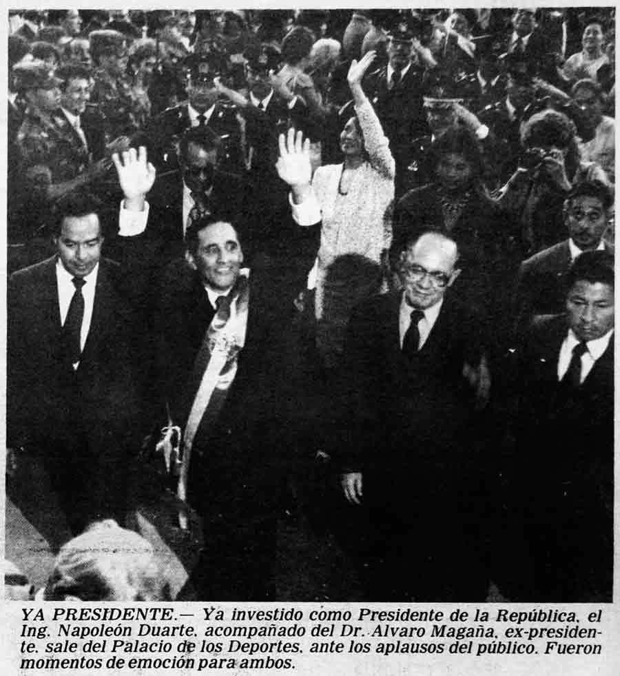 1984. José Napoleón Duarte