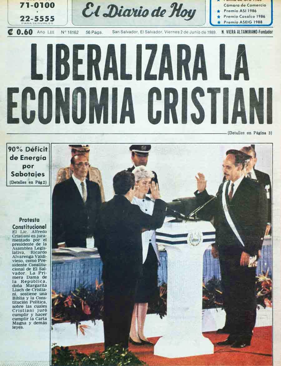1989. Alfredo Félix Cristiani Burkard