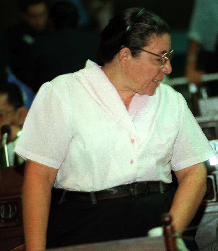 MARIA OFELIA NAVARRETE DIPUTADO DEL FMLNFOTO FELIPE AYALA