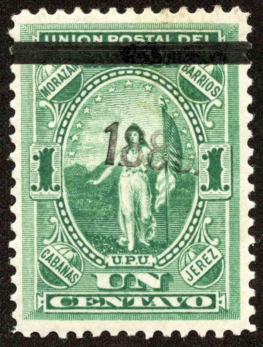 1889 FIGURA ALEGORICA DE EL SALVADOR