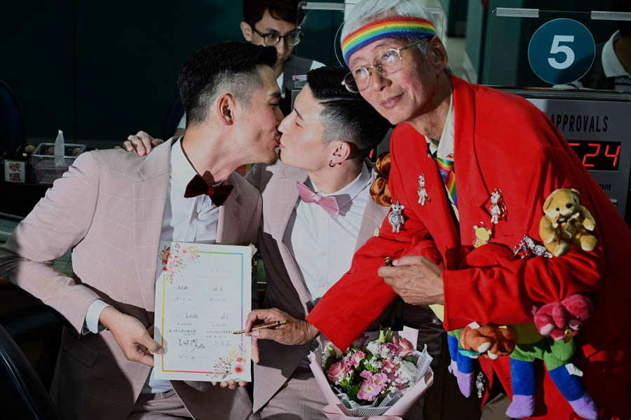 TAIWAN-POLITICS-SOCIAL-GAY-MARRIAGE