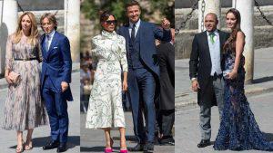 Glamour y belleza entre los invitados a la boda del futbolista Sergio Ramos y Pilar Rubio