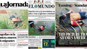 La desgarradora imagen del migrante y su hija ahogados en el río Bravo acapara portadas en medios internacionales