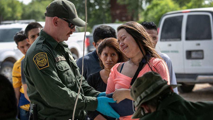 US Border Patrol Receives Asylum Seekers In Texas' Rio Grande Valley