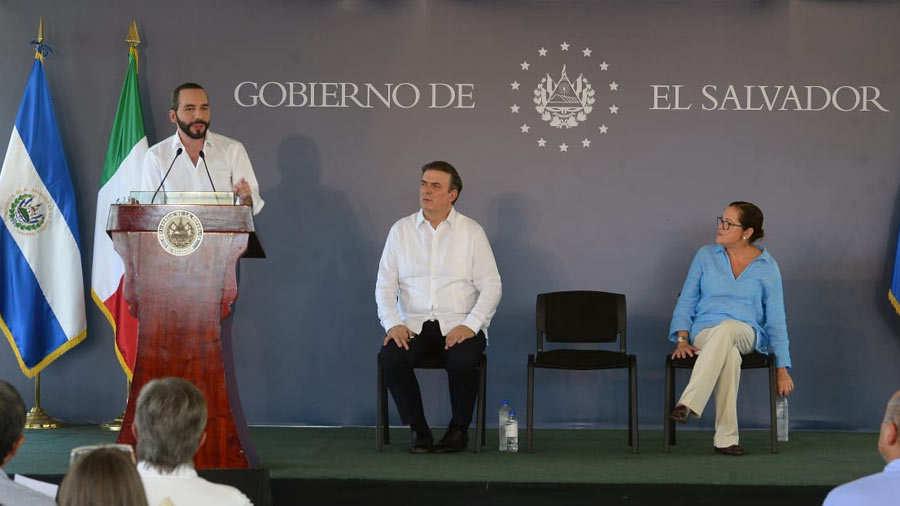 Bukele y canciller mexicano inauguran proyecto para frenar migración irregular