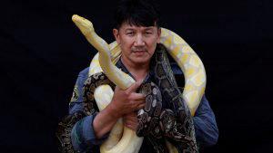 Conoce al bombero tailandés que se convirtió en el encantador de serpientes