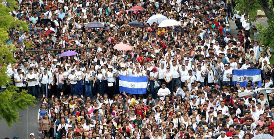 Followers of the Pentecostal church Light of the World take part in t