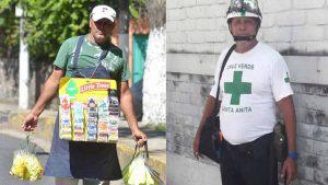 Gino González, el vendedor salvadoreño que durante las noches es socorrista voluntario de Cruz Verde