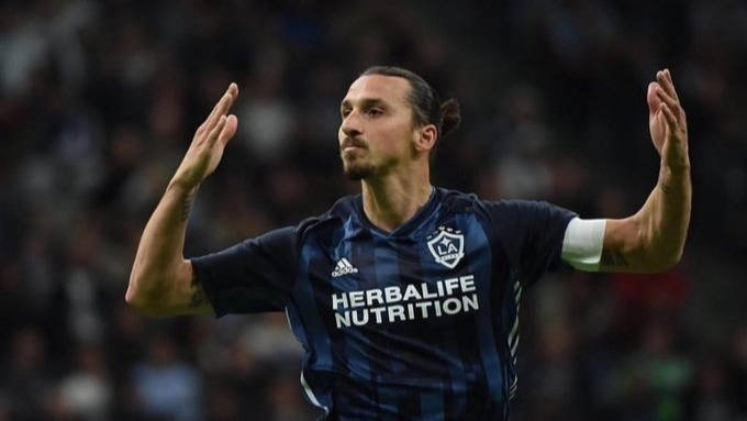 Festejo del delantero sueco Zlatan Ibrahimovic con el Galaxy de la MLS. / Foto EDH - cortesía Twitter Ibrahimovic
