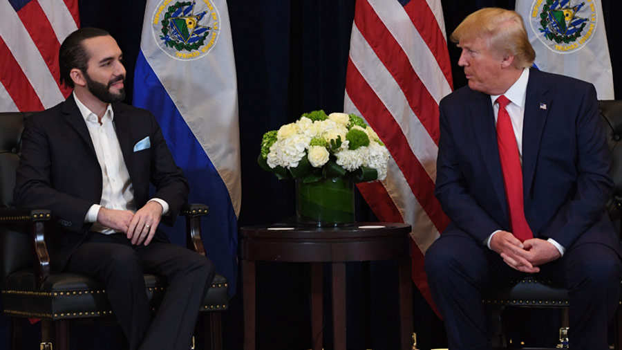 US President Donald Trump and President Nayib Bukele of El Salvador h