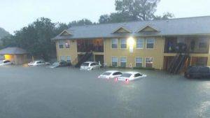 Inundaciones en Houston causadas por la tormenta Imelda