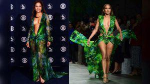 FOTOS: Jennifer López cautiva con una versión más sexy de su famoso vestido Versace