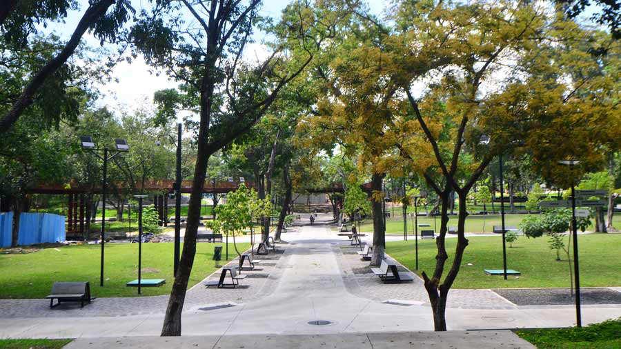 YH recorrido por el parque Cuscatlán