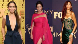 10 de los atuendos más atrevidos que desfilaron en la alfombra morada de los Emmy