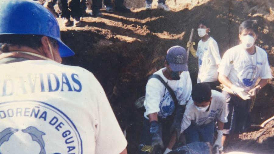 Personas soterradas en Montebello